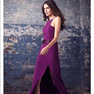 Halston purple evening gown NWT